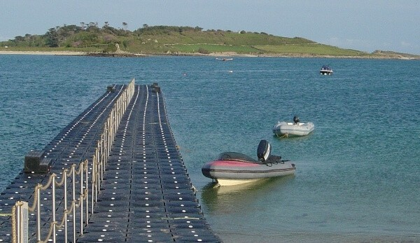 Airfloat Modular Pontoon System in use - Isles of Scilly