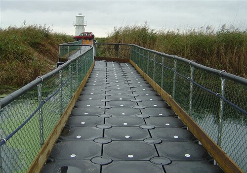 Airfloat Modular Pontoon System in use - Wetlands, Wales