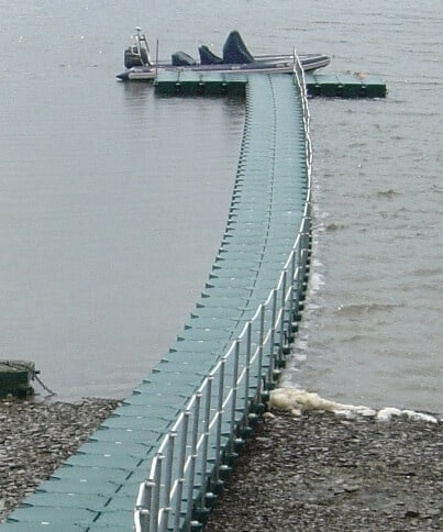 Airfloat Modular Pontoon System in use - Private Jetty, Co Cork