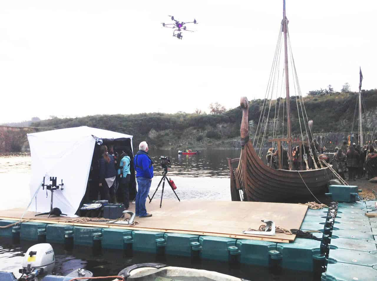 Airfloat MPS in use - The Vikings, Drone Platform