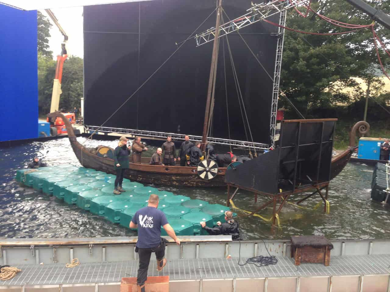 Airfloat Modular Pontoon System in use on set of The Vikings - 5
