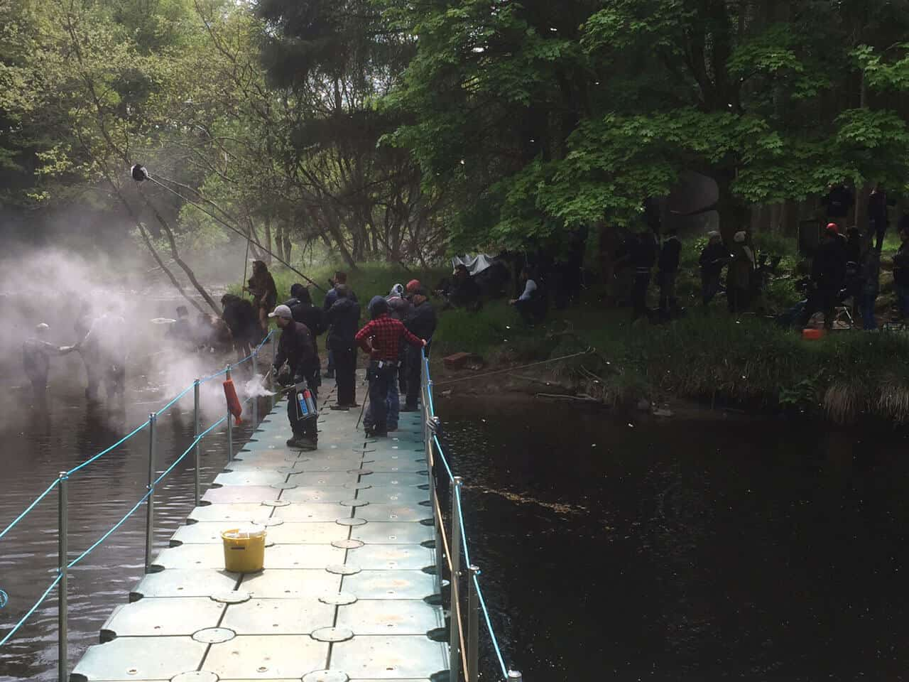 Airfloat Modular Pontoon System in use on set of The Vikings - 4