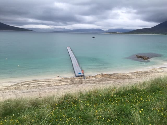 Airfloat Modular Pontoon System in use - Isle of Harris