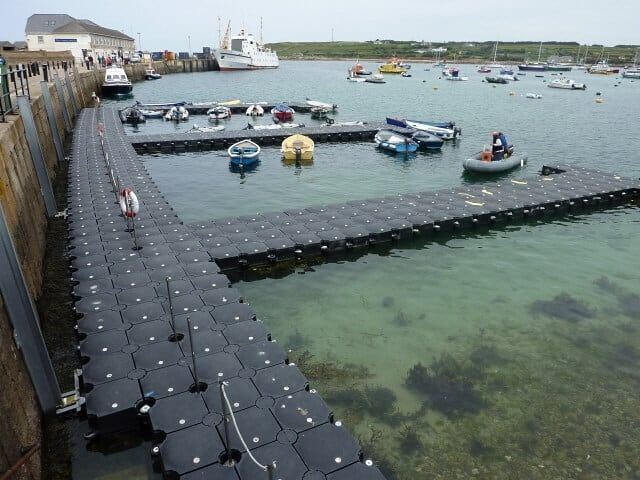 Airfloat Modular Pontoon System in use - Scilly Harbour